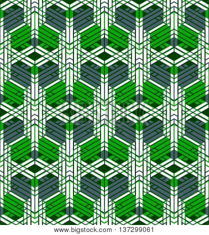 Contemporary abstract endless background three-dimensional repeated pattern. Decorative graphic entwine transparent ornament.