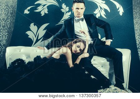 Handsome Man And Elegant Woman