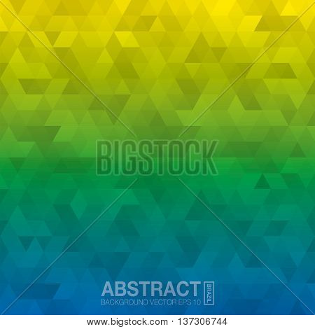 Abstract Background In Colors Of Brazil. Vector Eps10.