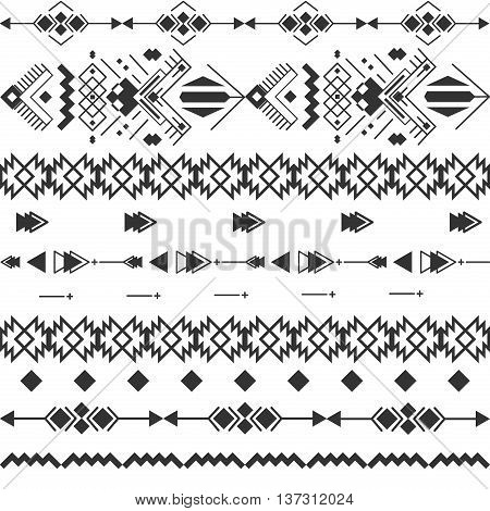 black white navajo aztec seamless pattern. Aztec abstract geometric print. Ethnic hipster backdrop. Ornament geometric aztec seamless pattern. Triangle geometric aztec seamless pattern.