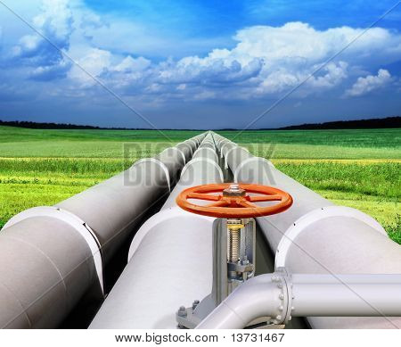 gas pipe line and valve that laid through green field