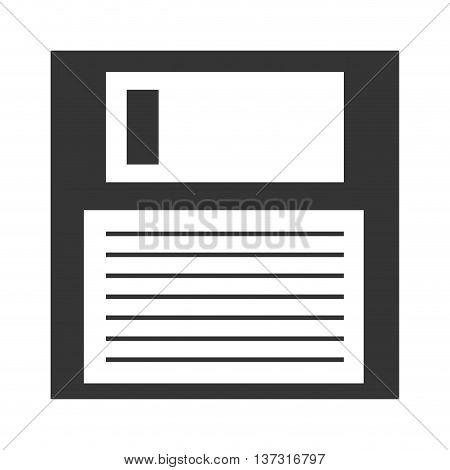 Diskette isolated icon symbolizing save button, vector illustration design.