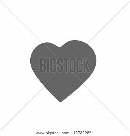 Simple heart icon. Love symbol. Stock vector illustration
