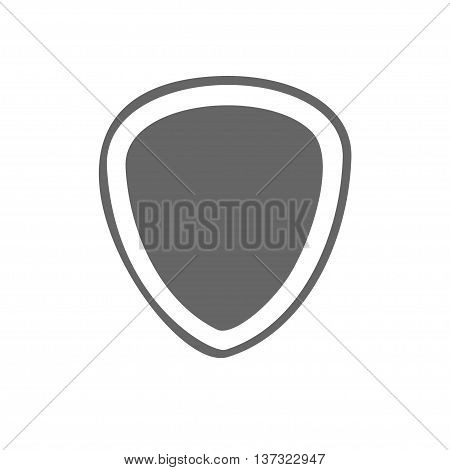 simple flat shield icon. Stock vector illustration