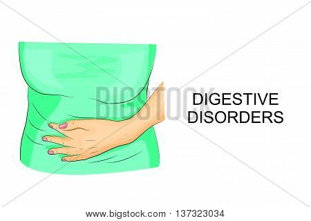 illustration pain in the abdomen and indigestion