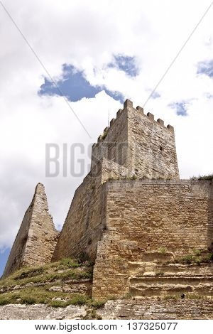 Pisana tower in the Lombardy Castle, Enna, Sicily