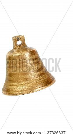 Picture of a small bell on a whie background