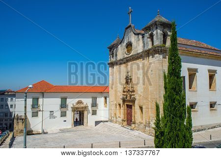 Igreja De Sao Joao De Almedina Church In Coimbra. Portugal.