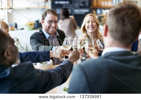 Business People Toast Success Achievement Colleagues Corporate Concept