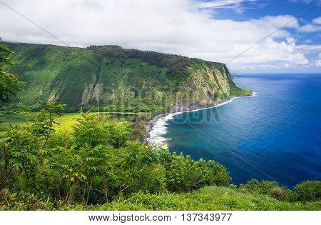 Waipio Valley Lookout view on Big Island Hawaii