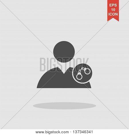 User Icon, Handcuffs