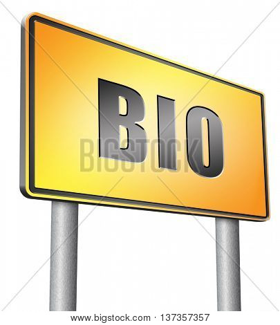 Bio button or biography leading to the story of your life about sign my life story 3D illustration, isolated,on white