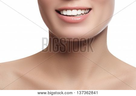 Laughing Beautiful Woman With Clean Fresh Skin