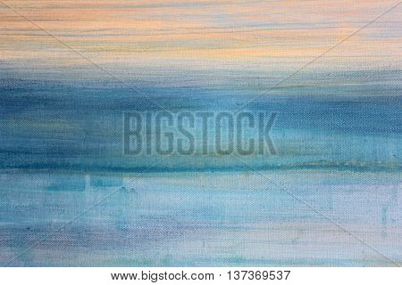 Blue Watercolor on Canvas 3