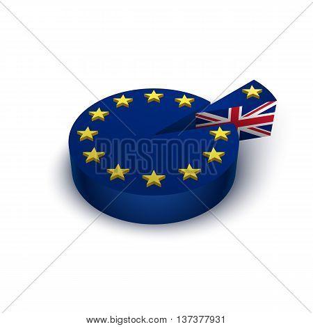 Brexit referendum Great Britain leave European union concept illustration