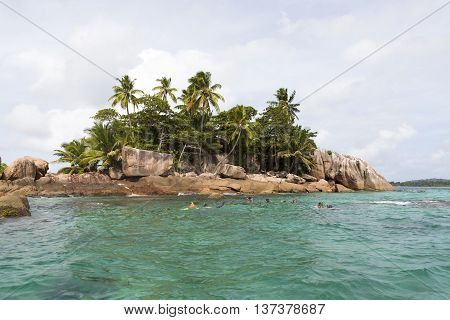 Diving Spot At Tropical Island St. Pierre, Seychelles