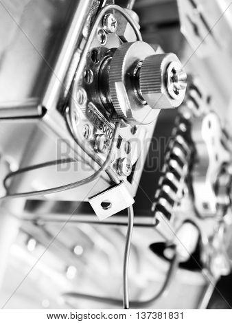 Sensor gas chromatograph. Laboratory chemical equipment. Industrial background
