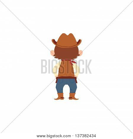 The Cow Boy. Human Character Design isolated on White Background
