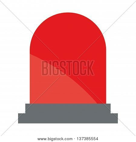 simple flat design emergency strobe light icon vector illustration
