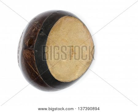 Bongo drum on a white background .
