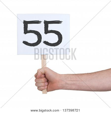 Sign With A Number, 55