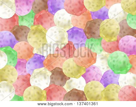 Ice Cream Balls Summer Background 3