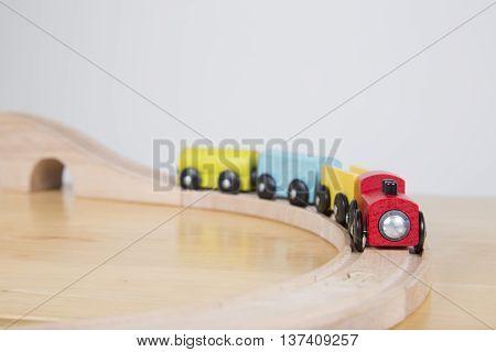 Train On Sharp Bend