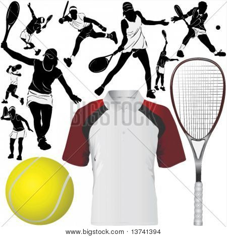 collection of tennis vector 2 (clothes detail)