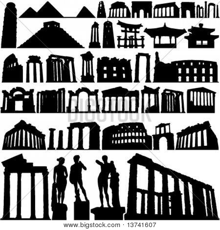 historical building and city vector