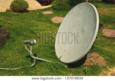 Parabollic Antenna to receive satellite signal in home