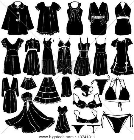 fashion women dress vector