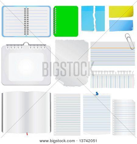 note paper vector 2