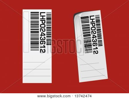 barcode label vector