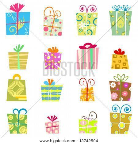 cute gift box vector