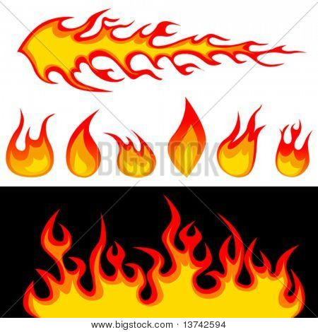 fire graphic elements vector