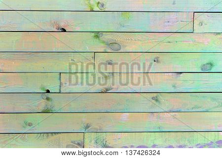 Colorful Painted Wood Wall - Texture Or Background