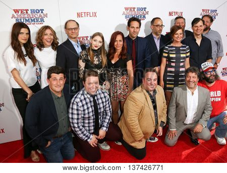 NEW YORK-JUL 22: The cast 'Wet Hot American Summer: First Day of Camp' Series attends the premiere at SVA Theater on July 22, 2015 in New York City.