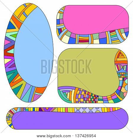 Colorful tag collection isolated over white background