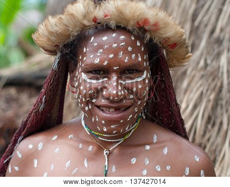 The Woman Of A Papuan Trib