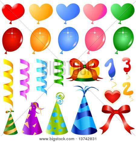 party objects great set vector