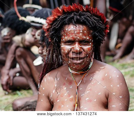 The Woman Of A Papuan Tribe
