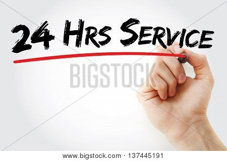 Hand Writing 24 Hrs Service With Marker