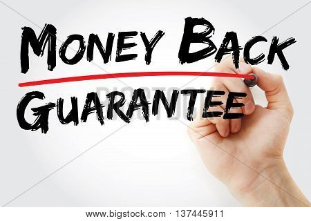 Hand Writing Money Back Guarantee