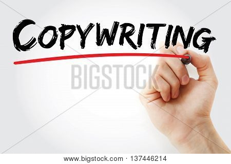 Hand Writing Copywriting With Marker