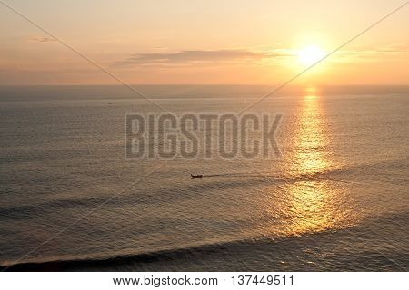 Beautiful seaview sunset (picture made on Bali island Indonesia)