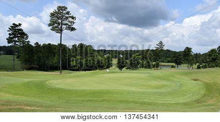 Golf course landscape background at Georgia, USA.