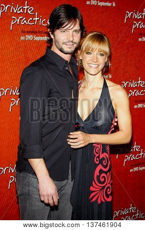 KaDee Strickland and Jason Behr at the Season One DVD Launch of 'Private Practice' held at the Roosevelt Hotel's Tropicana Bar in Hollywood, USA on September 2, 2008.