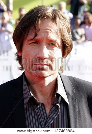 David Duchovny at the Los Angeles premiere of 'The X-Files: I Want To Believe' held at the Grauman's Chinese in Hollywood, USA on July 23, 2008.