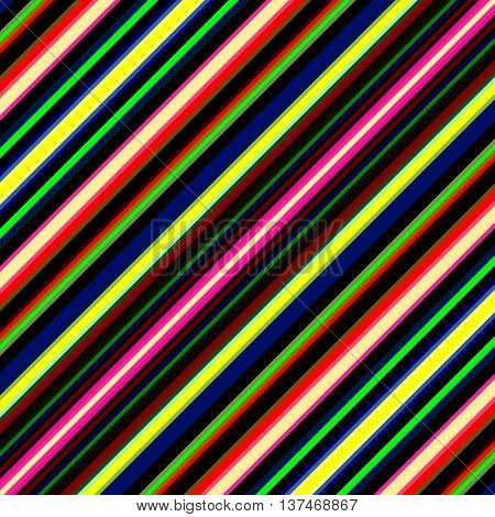 Vibrant diagonal multicolored stripes illustration.
