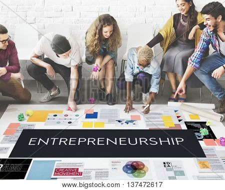 Entrepreneurship Organizer Risk Enterprise Dealer Concept